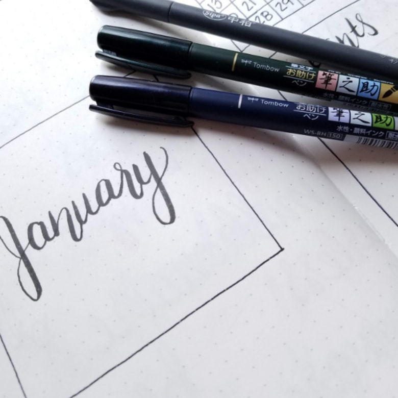 Minimalist Bullet Journal Cover Page For January - January 2019 Bullet Journal Set up