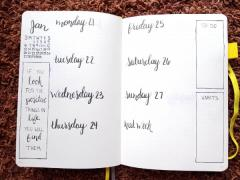 Minimalist Bullet Journal Set Up - Weekly Spread 4