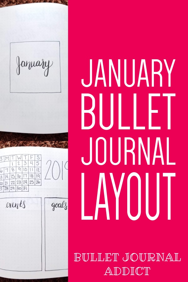 January Bullet Journal Layout