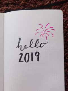 New Year Bullet Journal Cover Page - Firework