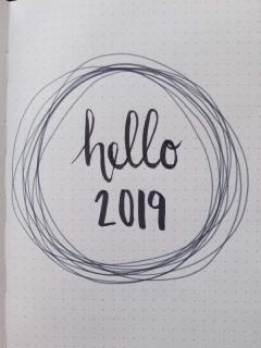 New Year Bullet Journal Cover Page - Minimalist Wreath