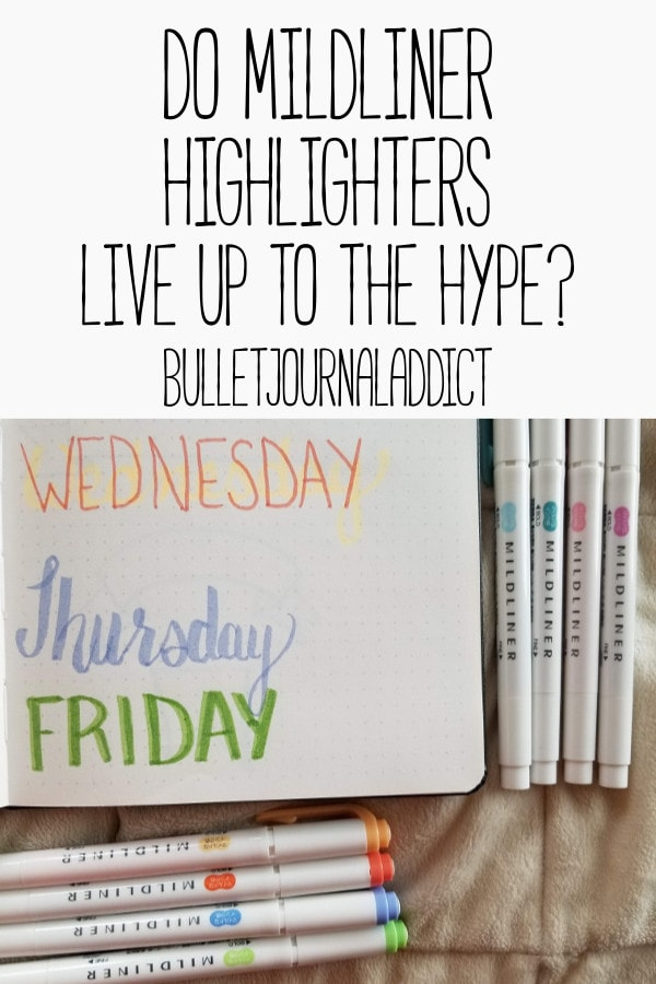 Best Bullet Journal Supplies - Pastel Highlighters - Bullet Journal Markers - Do Mildliner Highlighters Live Up To The Hype