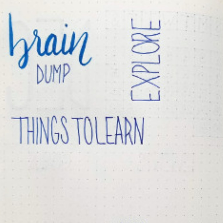 Bullet Journal Brain Dumps - How To Set Up A Brain Dump In Your Bullet Journal