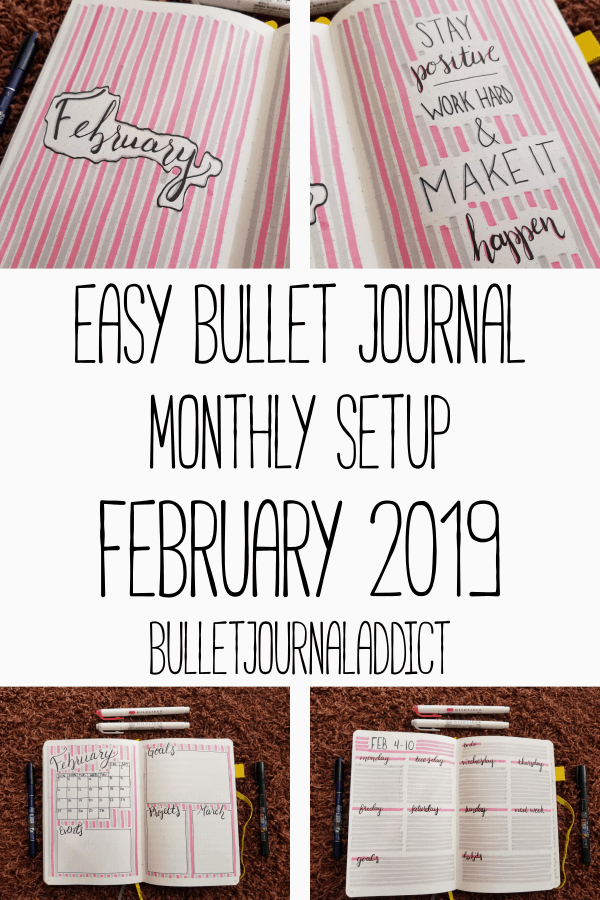 Bullet Journal Monthly Setup - Easy Monthly Layout for Bullet Journal - Easy Bullet Journal Monthly Setup February 2019