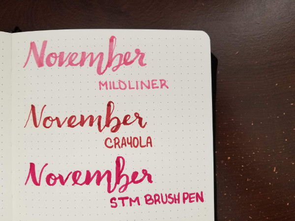 Pastel Highlighters - Mildliner Review - Modern Calligraphy