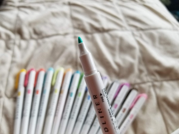 Pastel Highlighters - Mildliner Review - Thin Tip