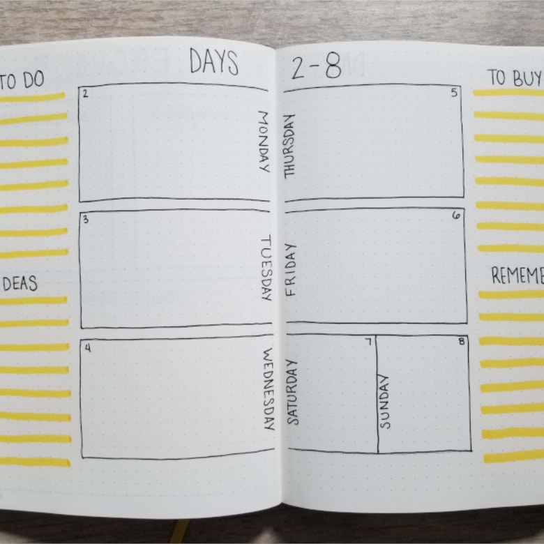 19 Bullet Journal Weekly Spread Ideas
