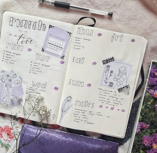 20 Spring Bullet Journal Ideas - 12