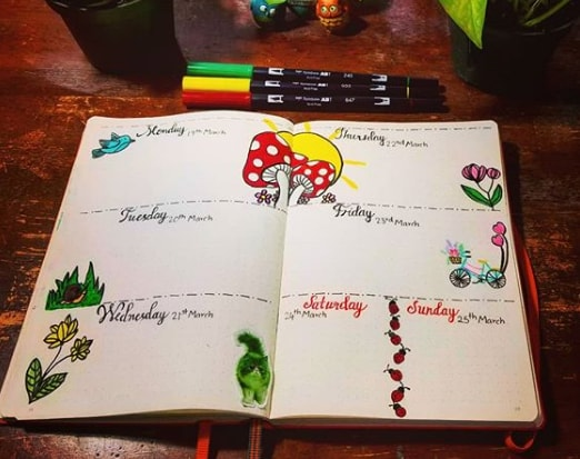20 Spring Bullet Journal Ideas - 13