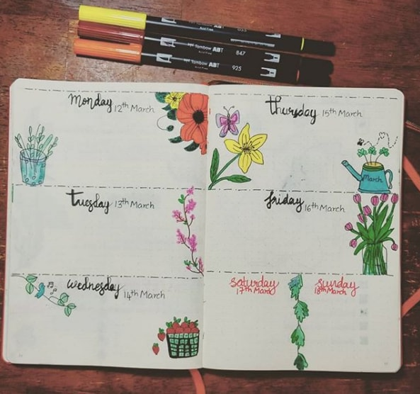 20 Spring Bullet Journal Ideas - 14