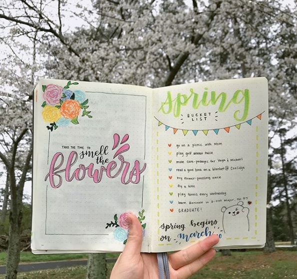 20 Spring Bullet Journal Ideas - 16