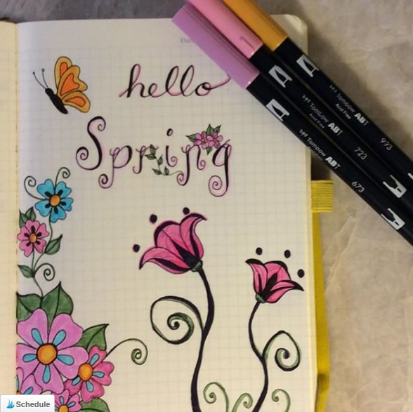 20 Spring Bullet Journal Ideas - 19