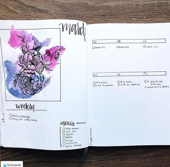 20 Spring Bullet Journal Ideas - 2