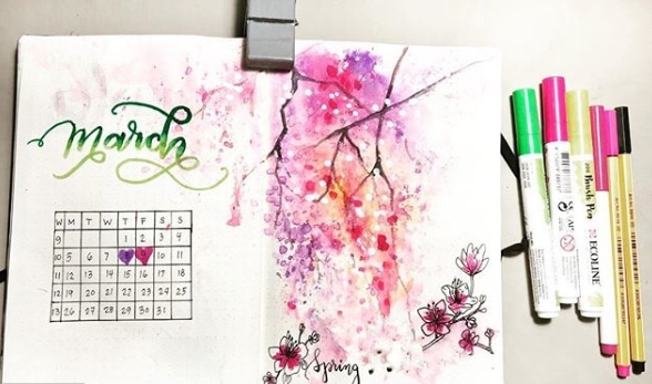 20 Spring Bullet Journal Ideas - 4
