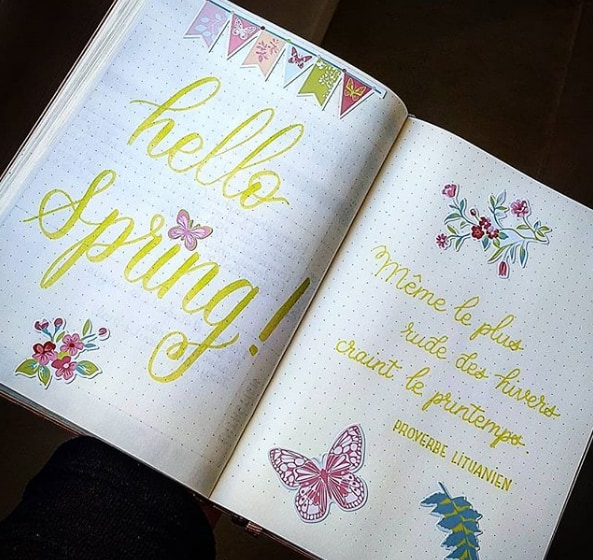 20 Spring Bullet Journal Ideas - 8