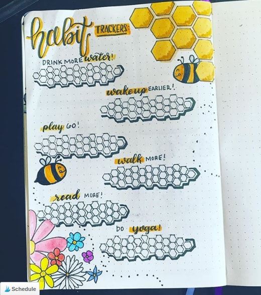 20 Spring Bullet Journal Ideas - 9