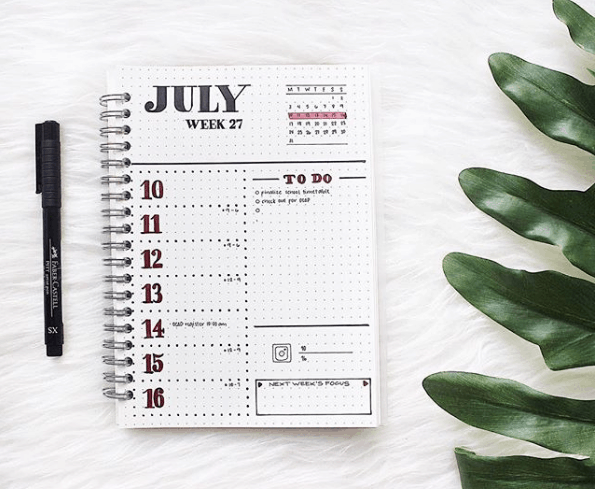 Weekly Spreads for Bullet Journals - Minimize your Tasks