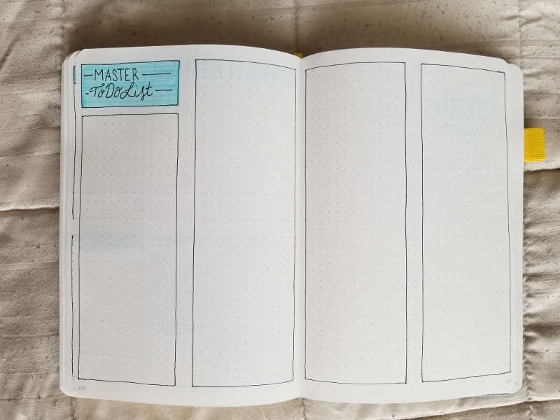 April 2019 Master To Do List Spread