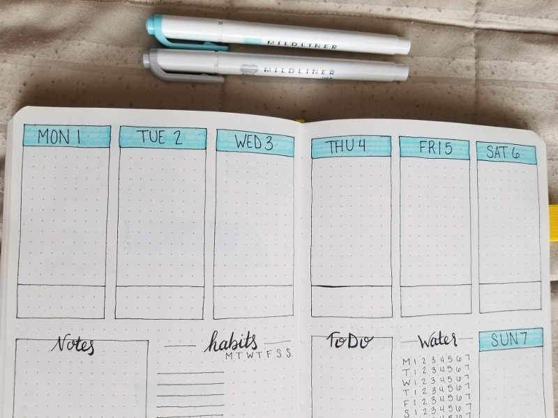 April 2019 Weekly Spread