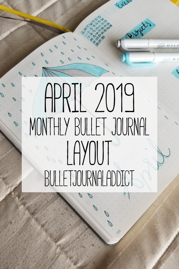 Bullet Journal Layout and Spread for April 2019 - Brain Dump and Master To Do List In Bullet Journal - April 2019 Monthly Bullet Journal Layout