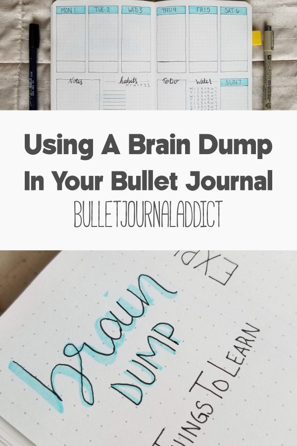 Bullet Journal Layout and Spread for April 2019 - Brain Dump and Master To Do List In Bullet Journal - Using A Brain Dump In Your Bullet Journal