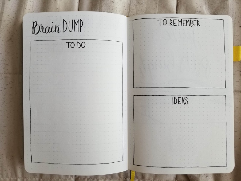 Bullet Journal Brain Dump