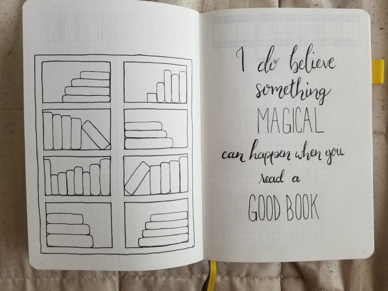 Bullet Journal Collections - Books to Read and Books Read