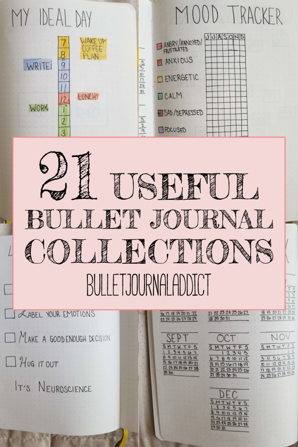 21 Useful Bullet Journal Collections