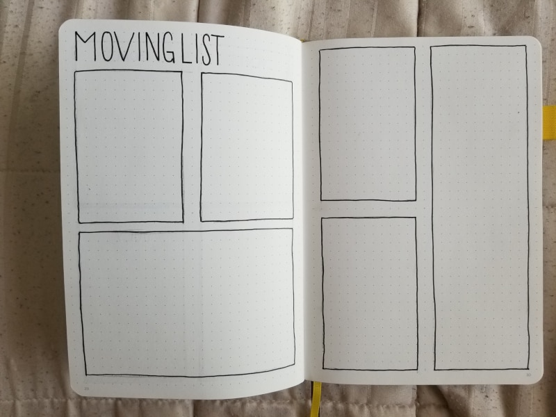 Bullet Journal Moving Collection