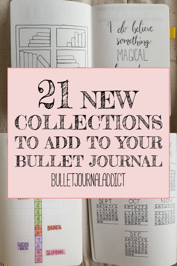21 New Collections To Add To Your Bullet Journal