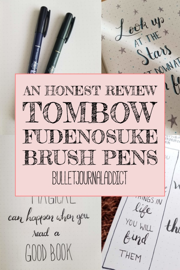 An Honest Review Tombow Fudenosuke Brush Pens