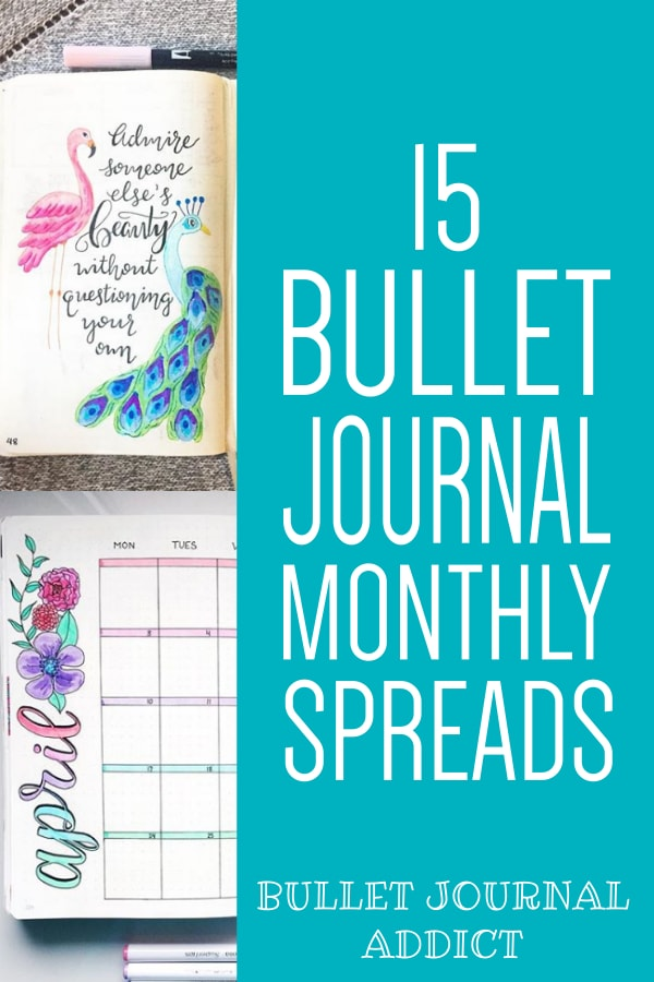 15 Bullet Journal Monthly Spreads