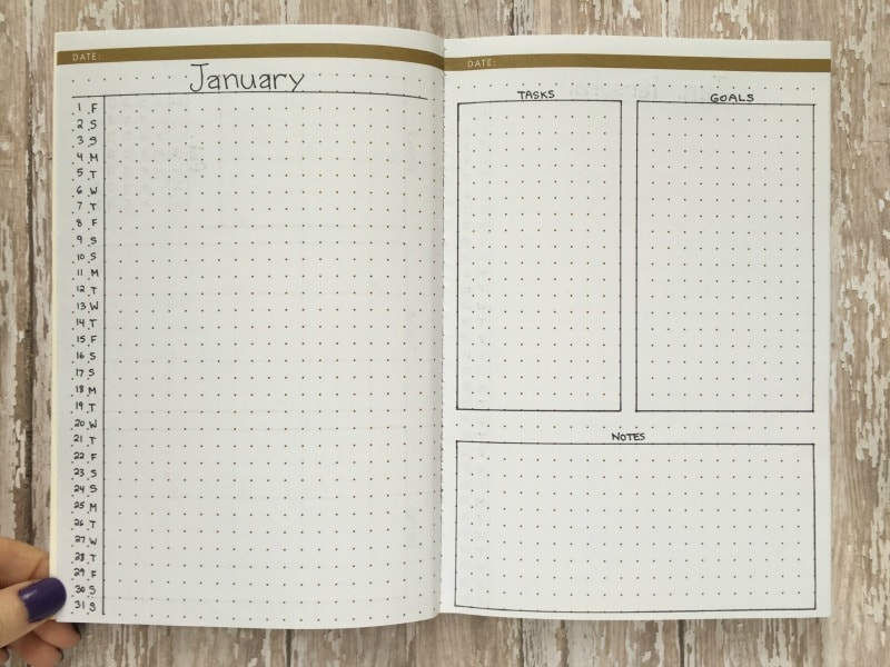 Monthly Bullet Journal Spreads - The Basic Betty