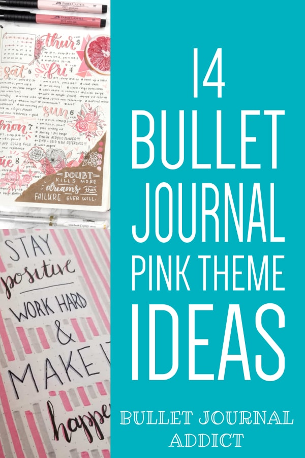 14 Bullet Journal Pink Theme Ideas
