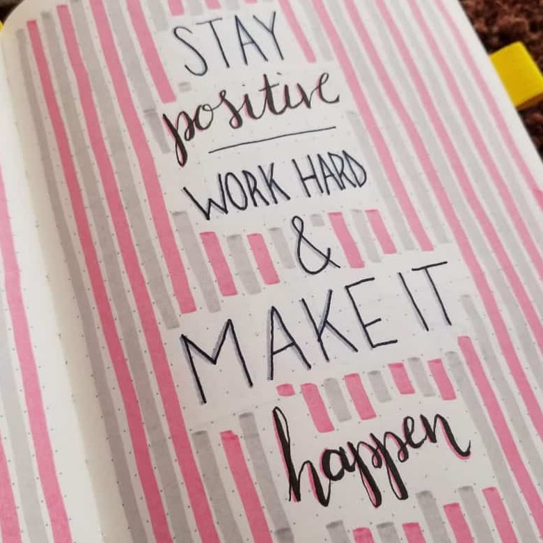 Bullet Journal Pink Theme Ideas