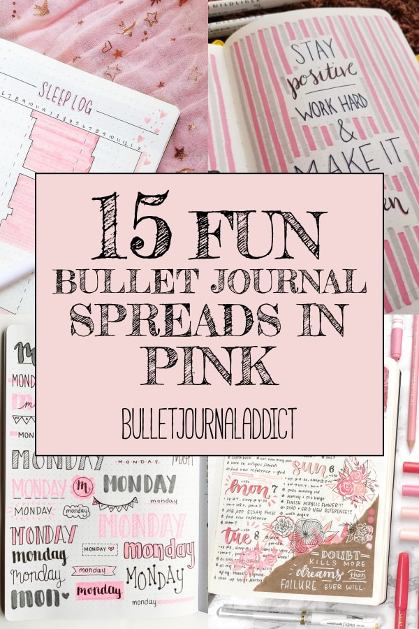 15 Fun Bullet Journal Spreads In Pink