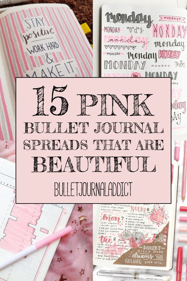 15 Pink Bullet Journal Spreads That Are Beautiful