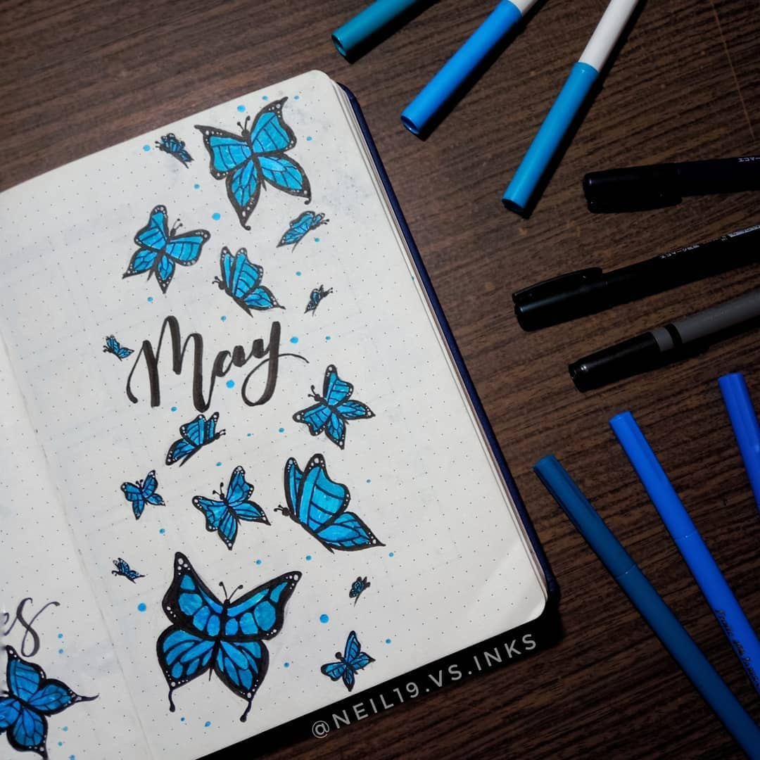 Blue Butterfly Cover Page