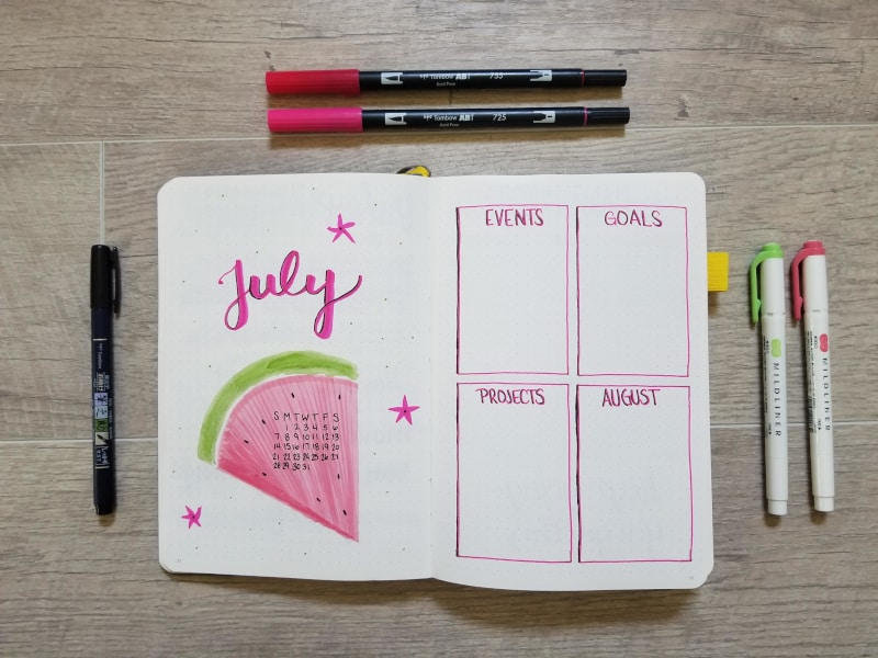 July Monthly Spread