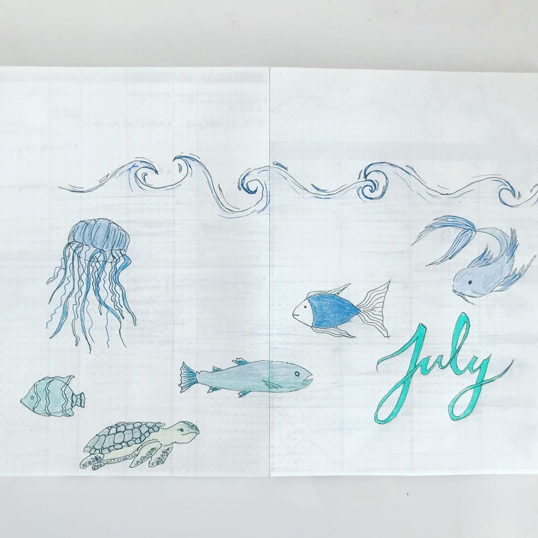 Ocean Themed Monthly Cover Page