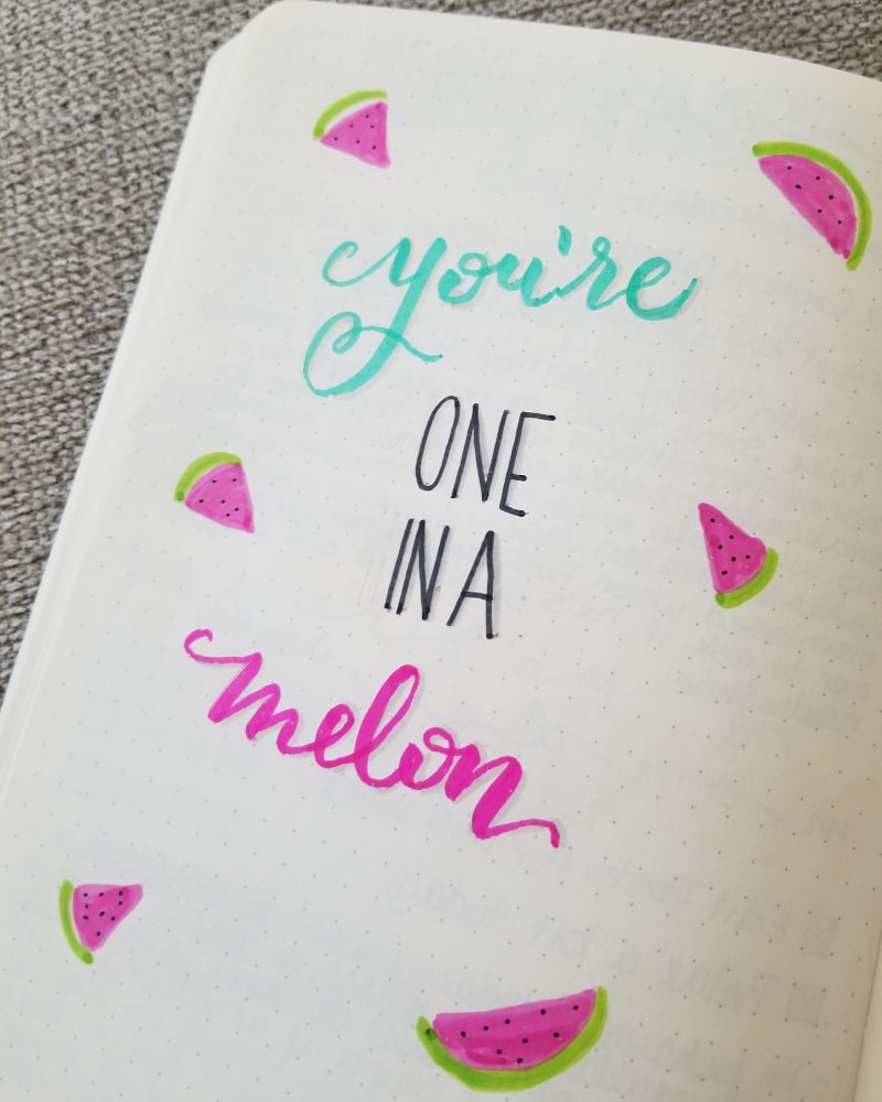 You're One In A Melon Tombow Brush Pens