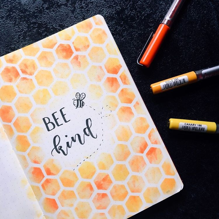 Bee Kind Bullet Journal Quote