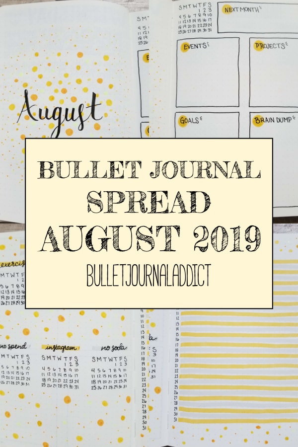 Bullet Journal Spread August 2019