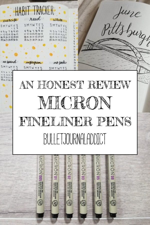 An Honest Review Micron Fineliner Pens