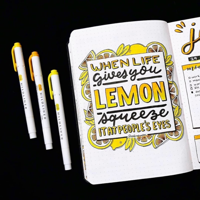 Funny Lemon Quote Page