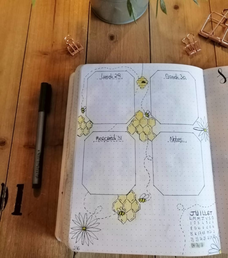 Honeycomb Weekly Spread