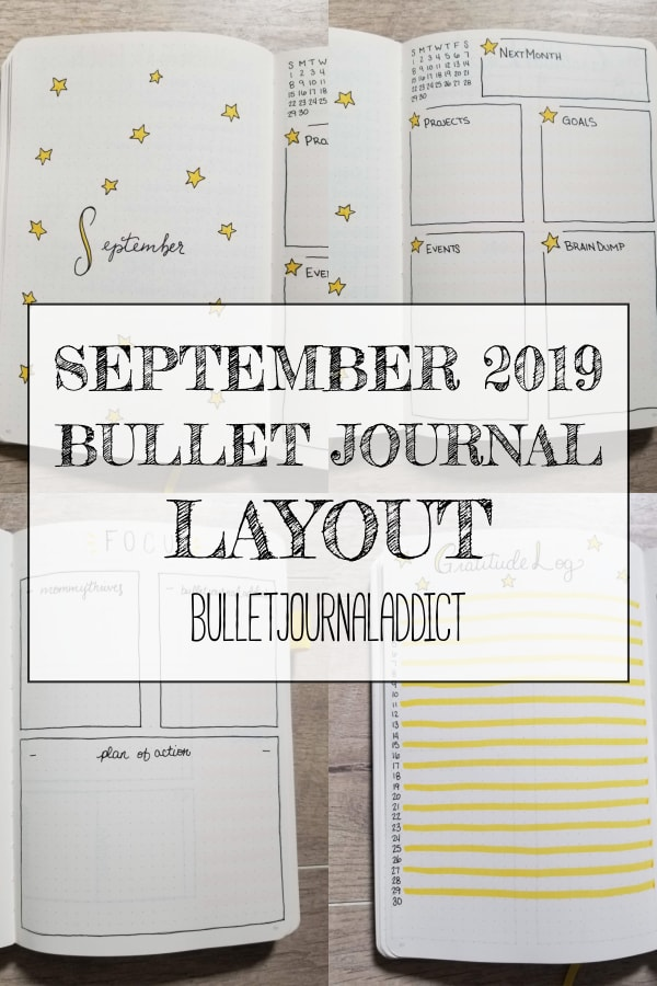September 2019 Bullet Journal Layout