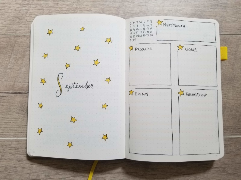 September Dancing Stars Monthly Layout