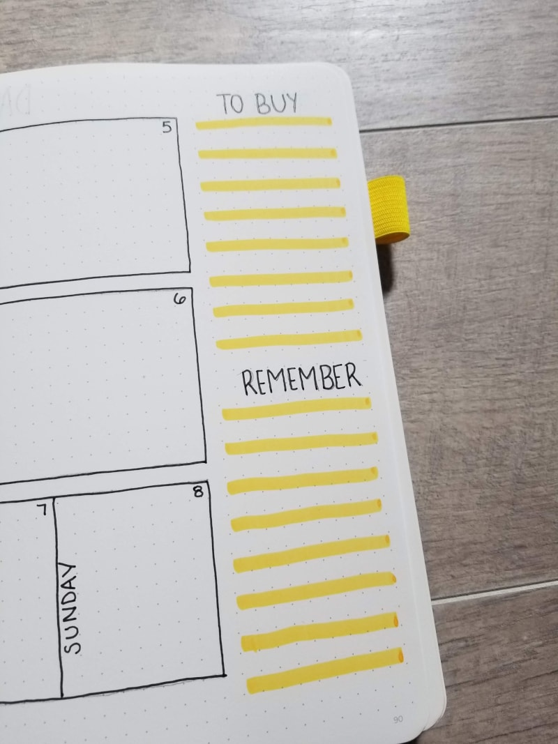 September Weekly Spread To Buy and Remember