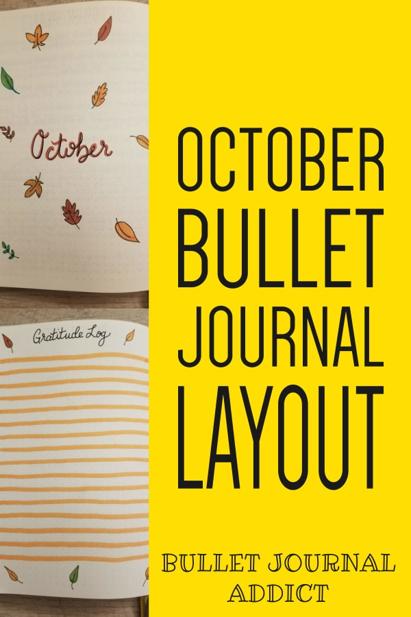 October Bullet Journal Layout